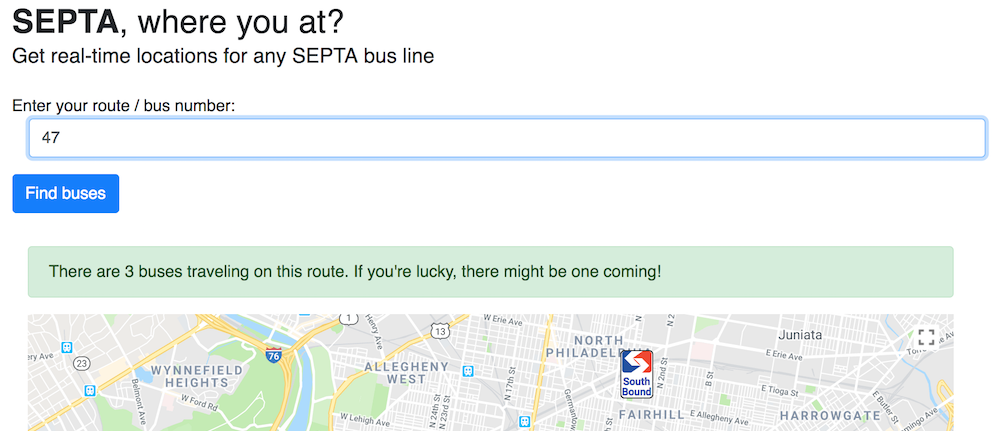 Septa React cap